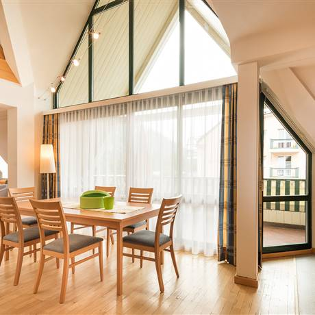 Spacious holiday apartment in wooden look and with balcony access